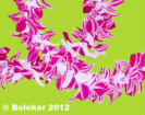 Judd Boloker Double Orchid Lei Print