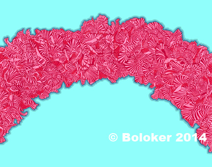 Pink Carnation Lei Print Judd Boloker Hawaii Art