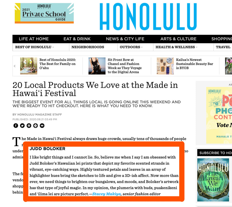 Judd Boloker, HONOLULU Magazine, Made in Hawaii Festival